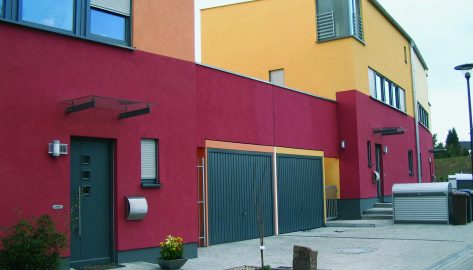 Doppelgarage als Bestandteil urbaner Architektur