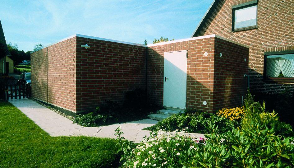 Geräteraum als idealer Lagerplatz für Gartengeräte